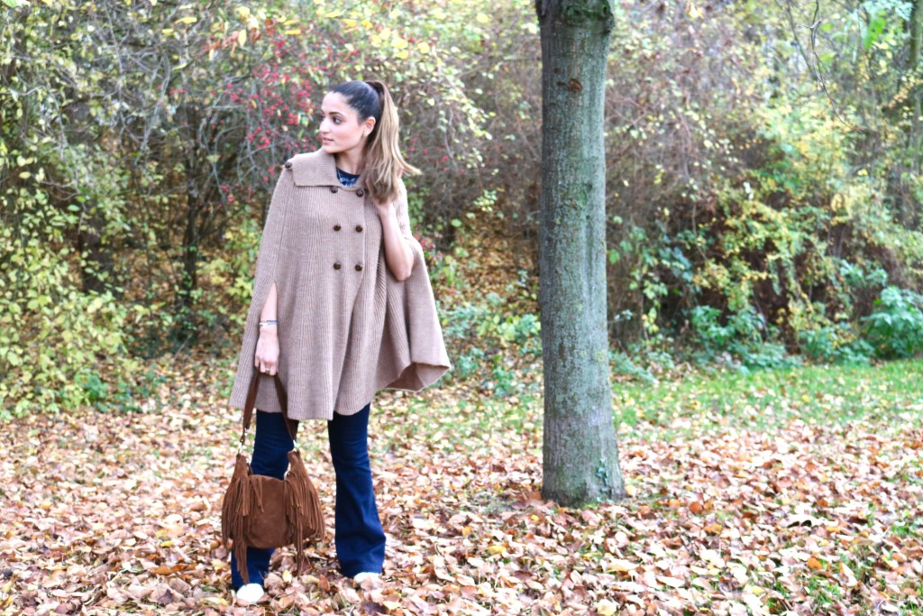 fall poncho look